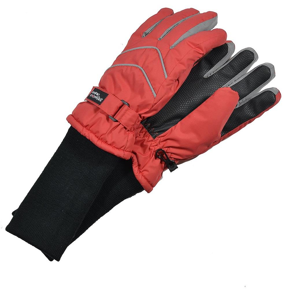 Snowstoppers Nylon Gloves - Red