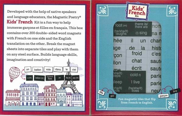 MAGNETIC POETRY KIDS - KIDS FRENCH MAGNETIC KIT