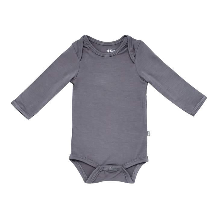 KYTE LONG SLEEVED BODYSUIT CHARCOAL