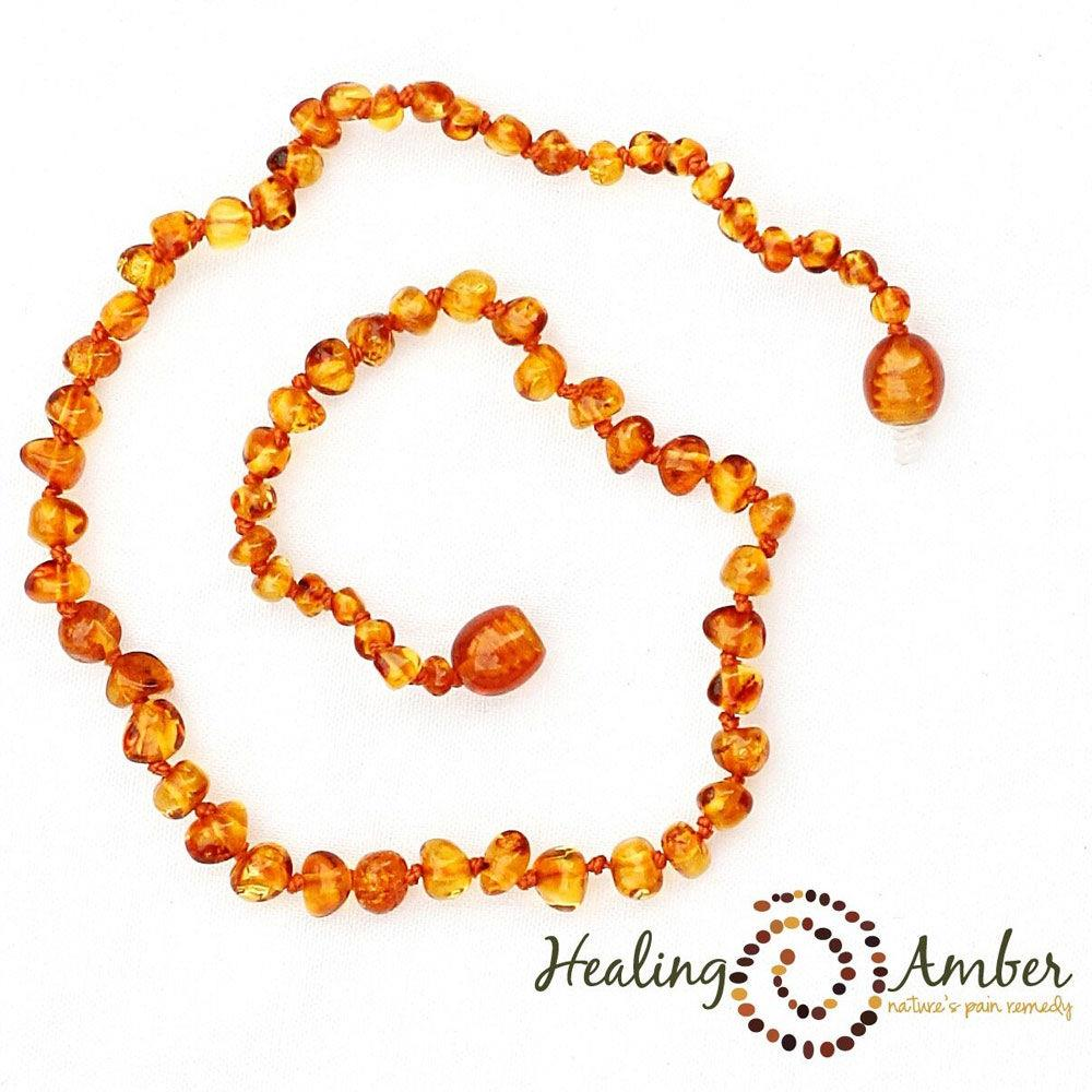 "Healing Amber 13"" Necklace - Caramel 
