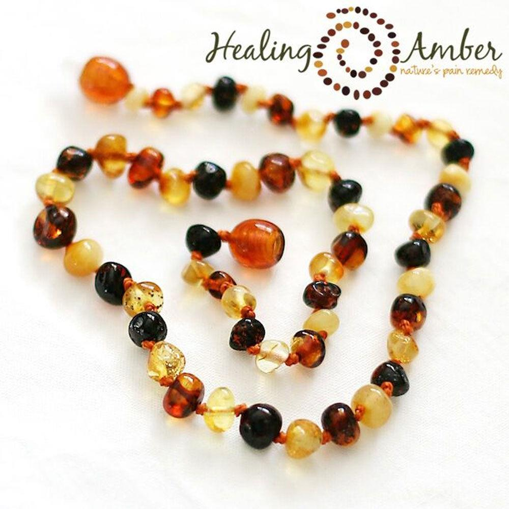 "Healing Amber 13"" Necklace - Multi 
