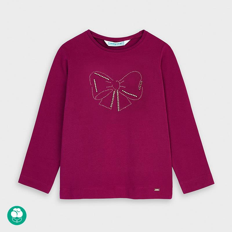 Mayoral Long Sleeved Gold Bow Tee for Girl