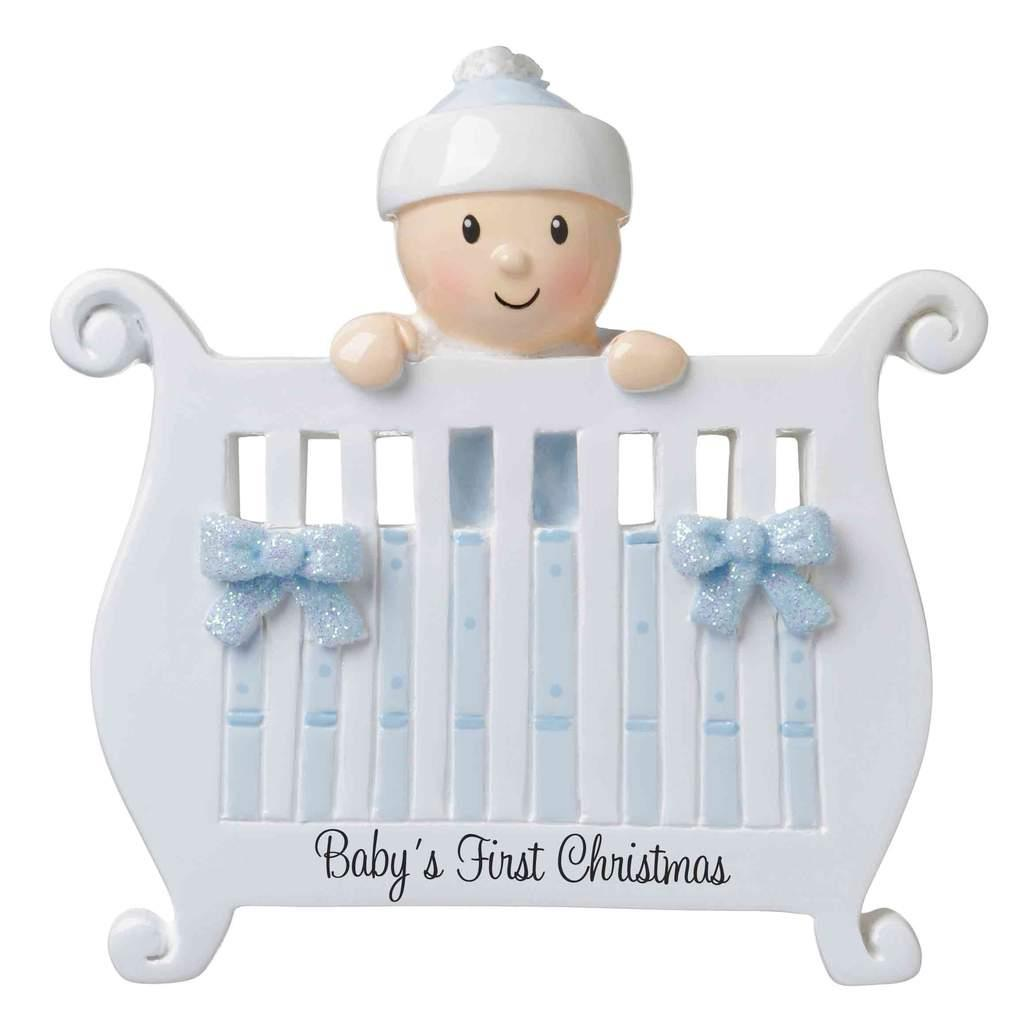 PolarX Chritmas Decoration - Baby Boy in Crib