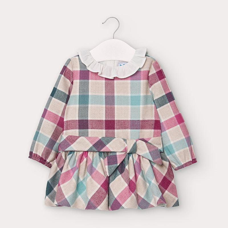 Mayoral Checked Dress for Baby Girl