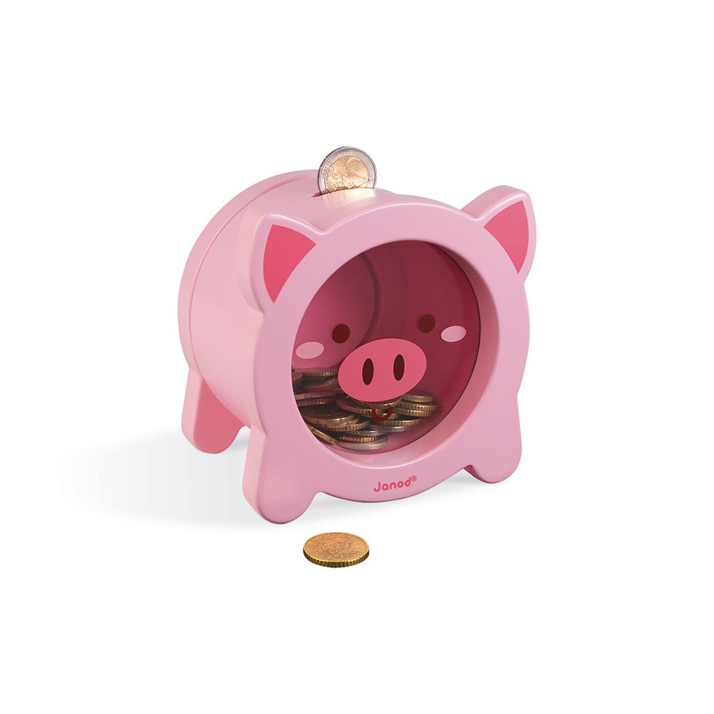 Janod Piggy Bank - Pig | Jump! The BABY Store