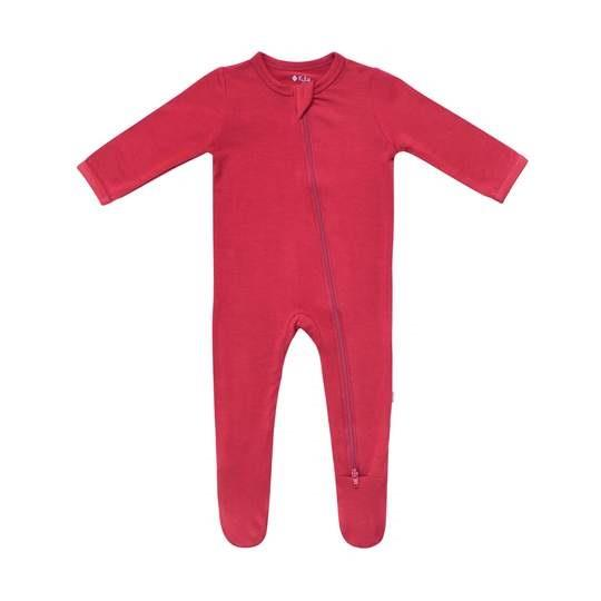 Kyte Solid Zippered Footie - Ruby
