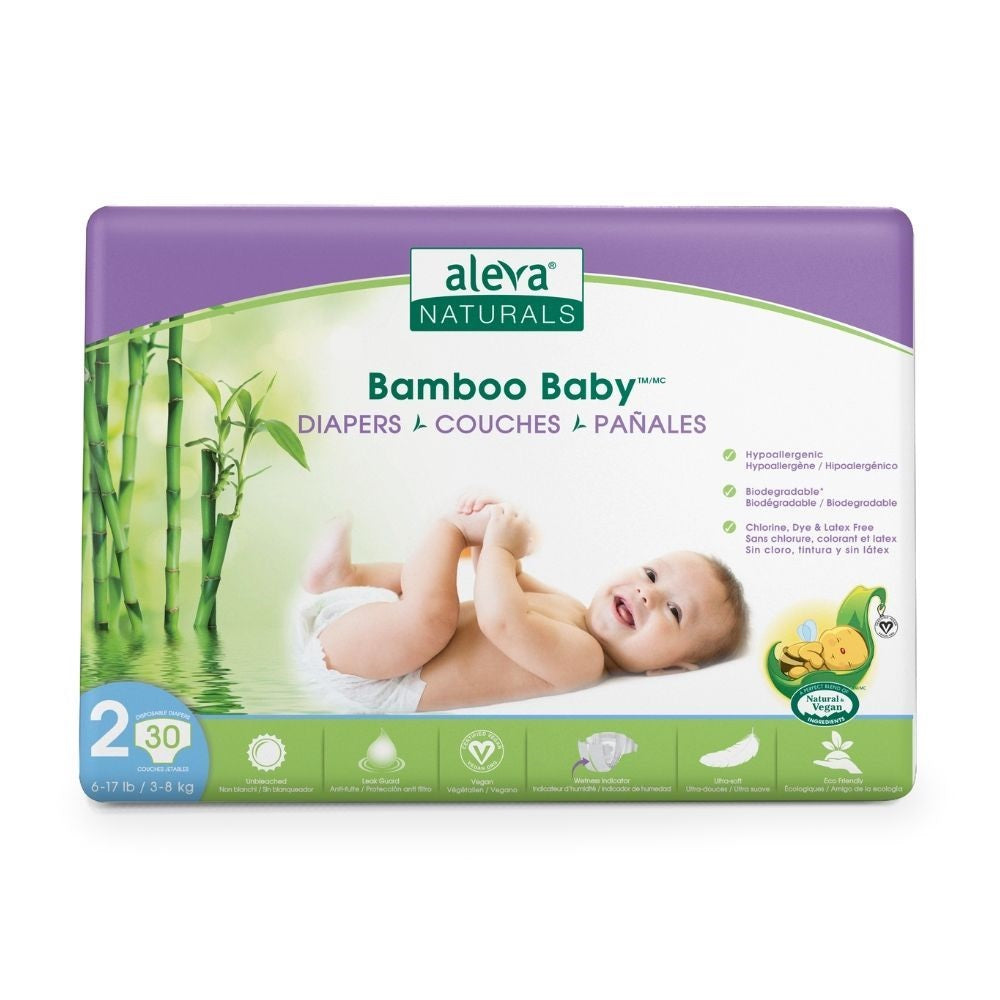 ALEVA BAMBOO BABY DIAPERS SIZE 2