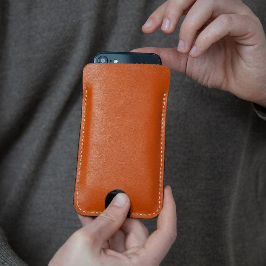 "Leder iPhone + Fairphone Hülle ""Sleek"""