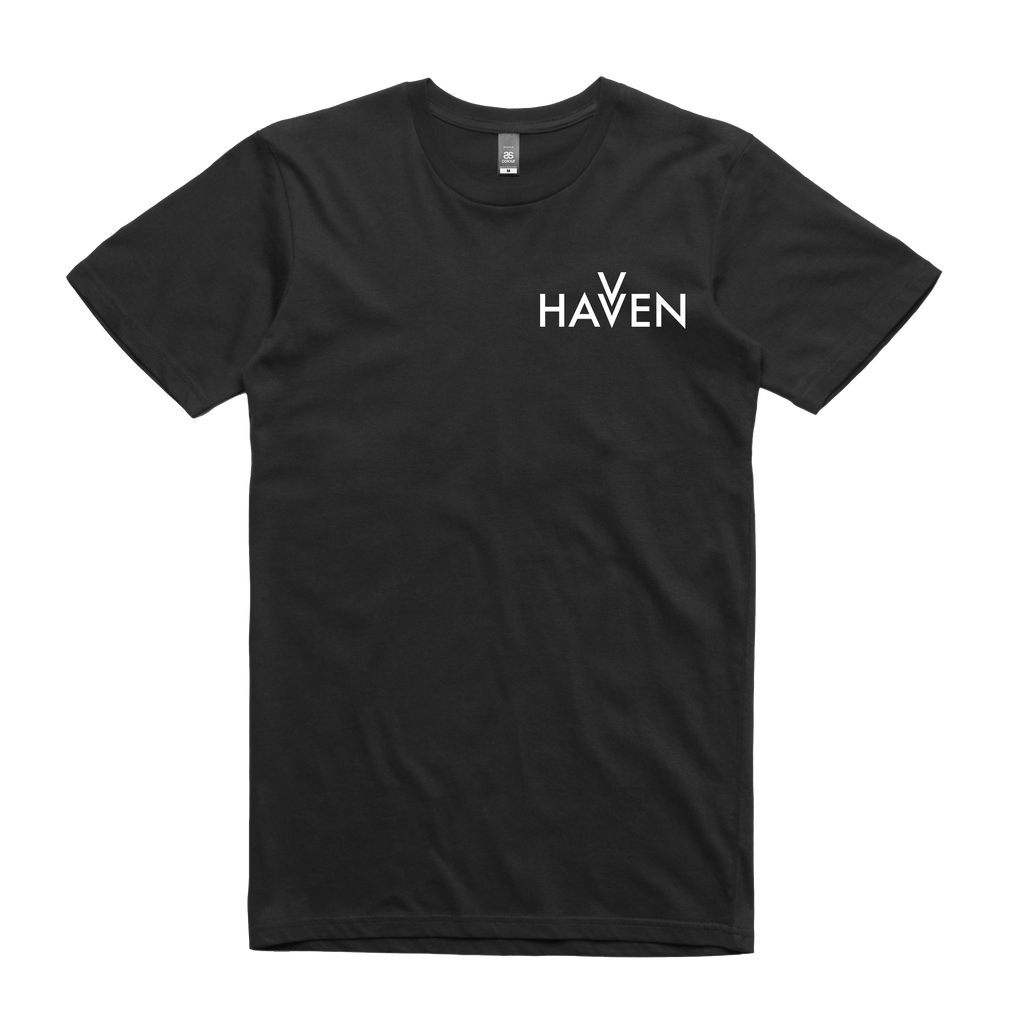 Black Havven Crew Neck T-Shirt (Unisex)