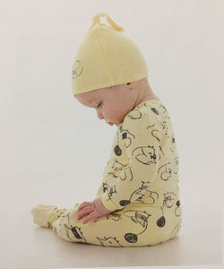Bamboo Infant Footie Sleeper & Children's PJ's (Yellow Mouse Print) by Silkberry Baby