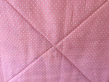 Back of quilt; Lt. pink pin dot