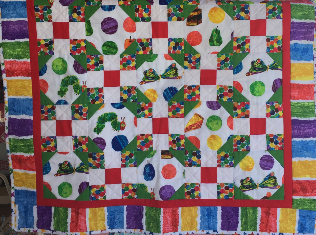 Hungry Caterpillar Quilt (primary colors)
