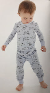 Bamboo Infant Footie Sleeper & Children's PJ's (Blue Dog Print) by Silkberry Baby