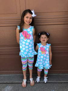 "Infant & toddler plus +  ""Pink Bunny"" Romper"