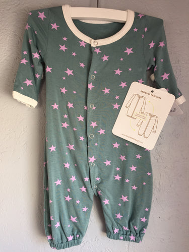 Newborn Converter Gown (Star Print / Woodland) by Silkberry Baby (Hat sold separately)