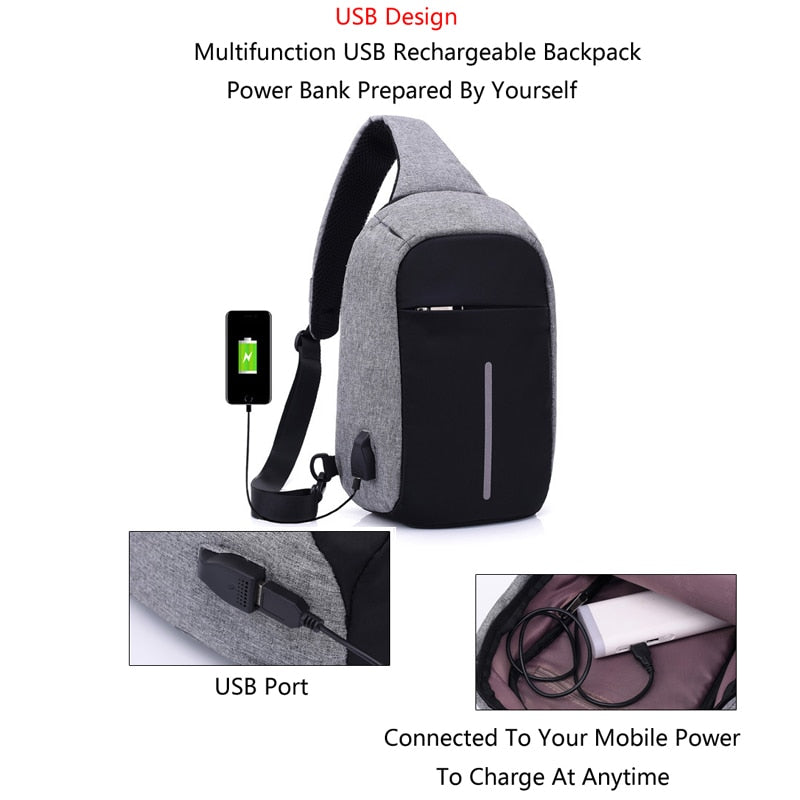 AUTHENTIC MONSIEUR™ ANTI-THEFT SLING BAG (LIMITED STOCKS ONLY)