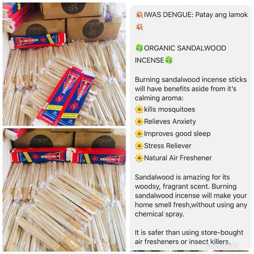 Authentic Organic Mosquito Incense Buy 2+2 Promo (120Sticks)