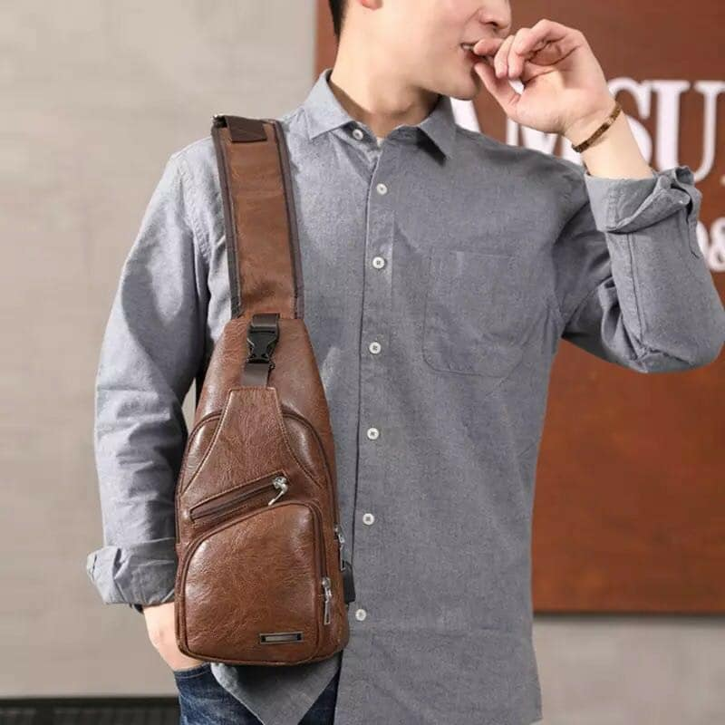 SUPERSALE  80% OFF (BUY1TAKE1) AUTHENTIC Monsieur Leather Sling Bag