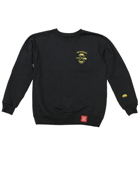 CMMA Crew Neck Sweatshirt Black/Gold