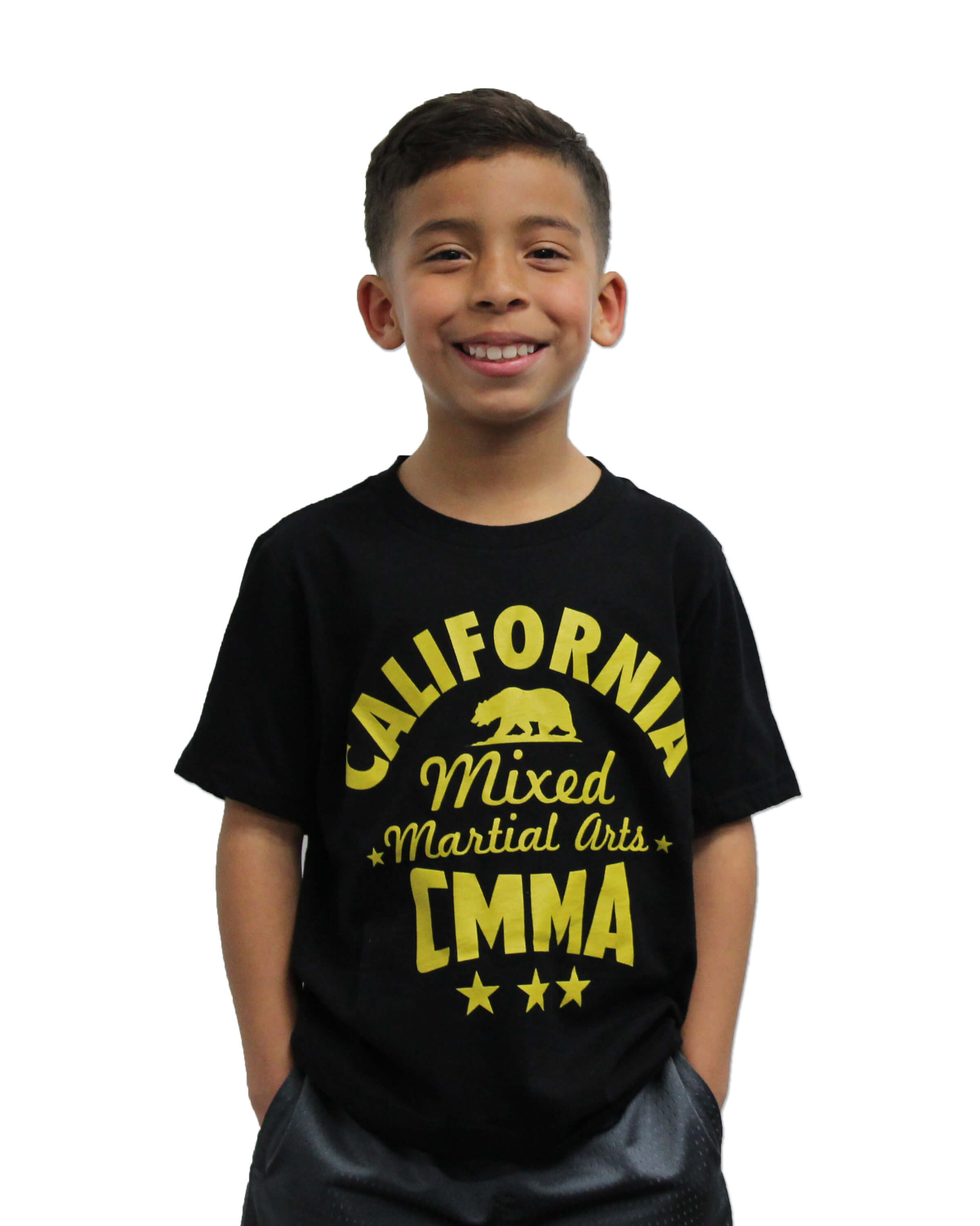 CMMA Kids T-Shirt Black/Yellow