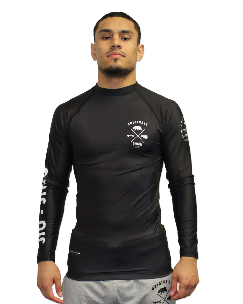 CMMA Rash Guard LS Black