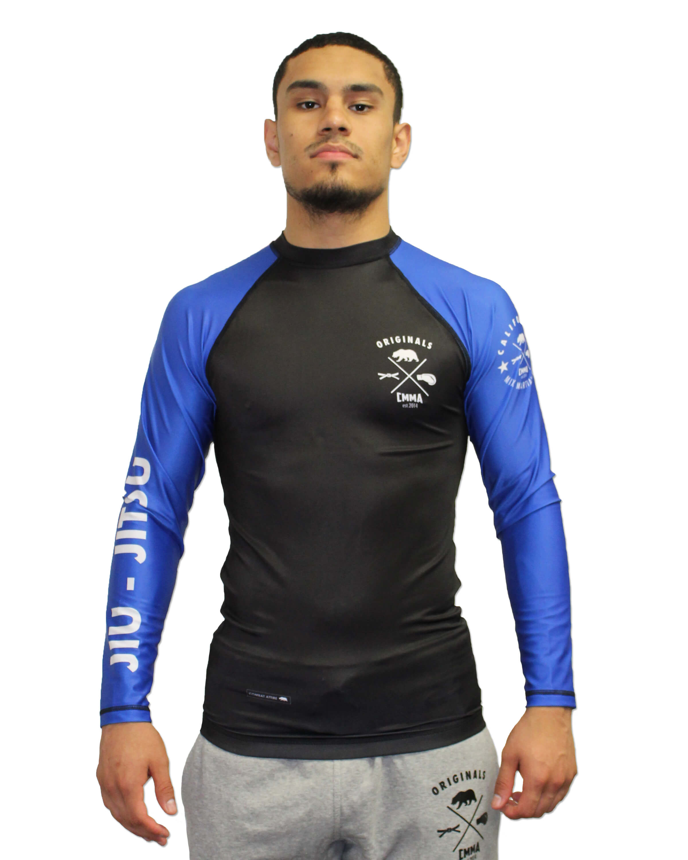 CMMA Rash Guard LS Blue