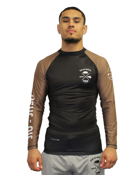 CMMA Rash Guard LS Brown