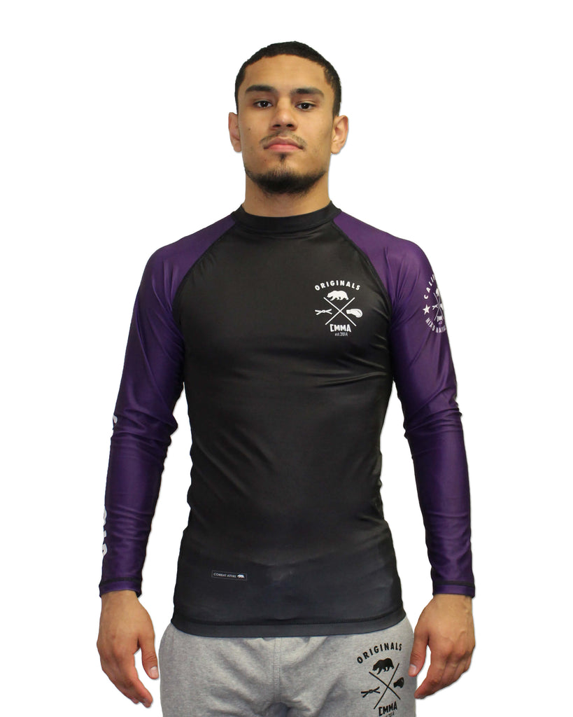 CMMA Rash Guard LS Purple