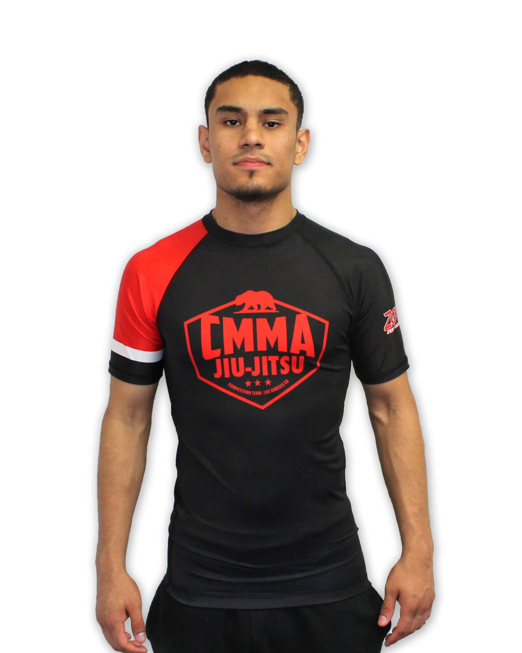 CMMA Rash Guard Short Sleeve Black