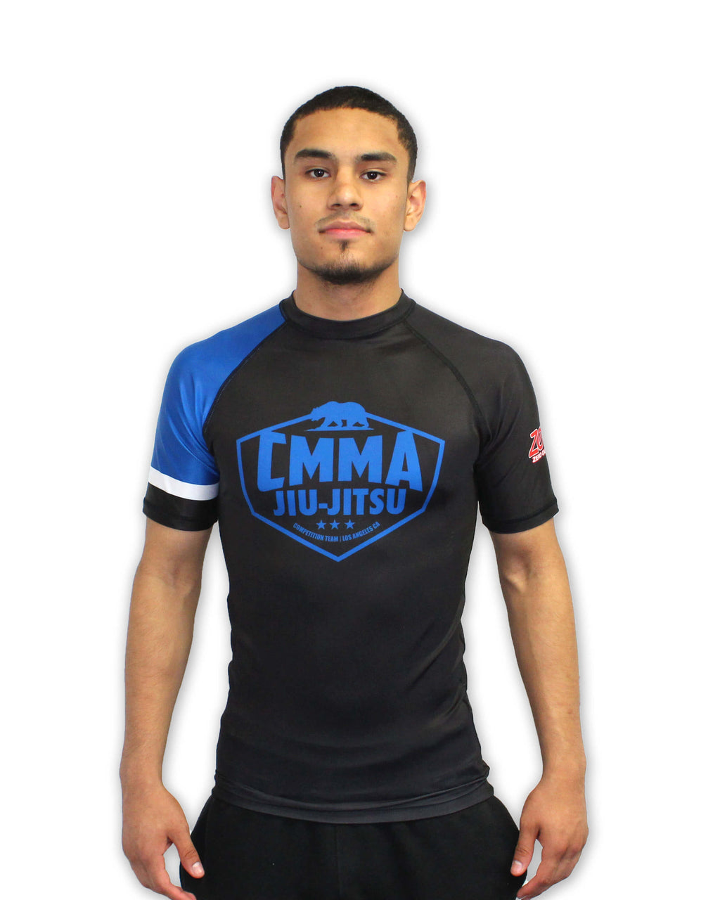 CMMA Rash Guard Short Sleeve Blue