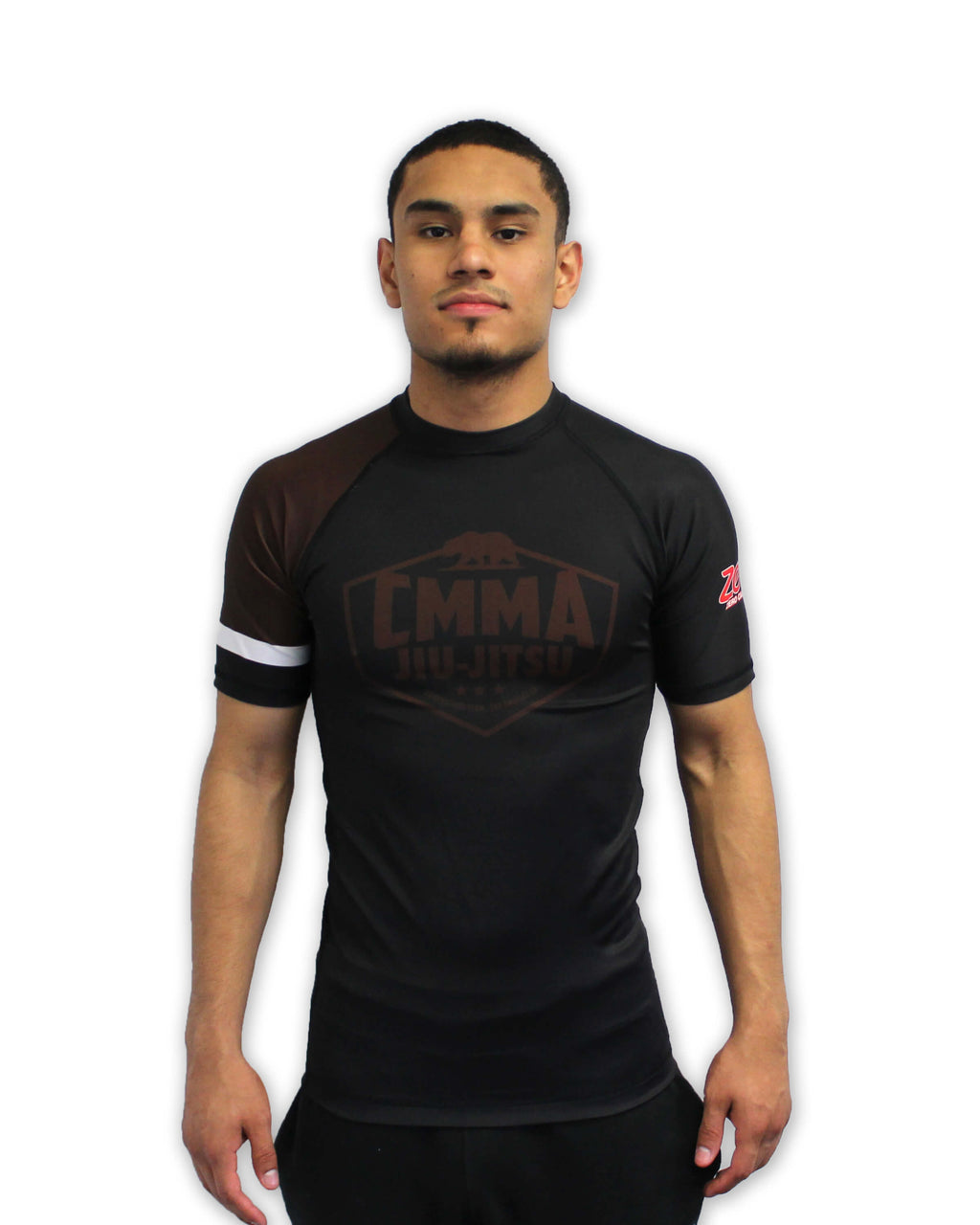 CMMA Rash Guard Short Sleeve Brown