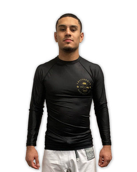 CMMA Long Sleeve Rash Guard Black/Gold