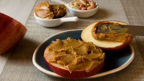 Apple and Peanut Butter for a healthy workout breakfast