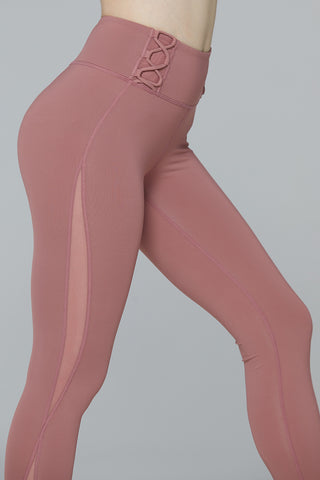 light & leaf fashion activewear See-through Mesh Workout Leggings | High Waisted Yoga Pants Butt Lifting Bottoms