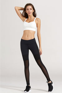 Basic design activewear set top with leggings