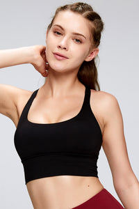 Adjustable Strap High Impact Sports Bra