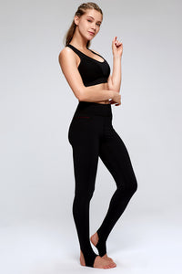 High Waisted Stirrup Yoga Pants