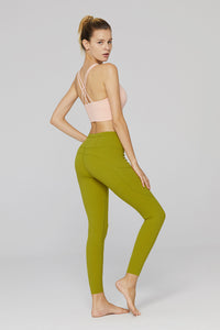 light & leaf fashion activewear full length stretchy gym jogging pants/leggins warm olive