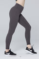 light & leaf fashion activewear super comfy yoga pants/leggings with hidden waist pocket grey/gray