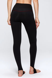 Basic Yoga Pants with Trample Design in Black