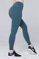light & leaf fashion activewear super comfy yoga pants/leggings with hidden waist pocket turquoise