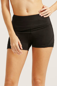 wide waistband short tights