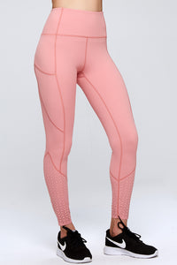 light & leaf High Waist Mesh Combo Leggings with pockets