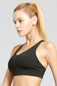 V Mesh Sexy Adjustable Straps Bra