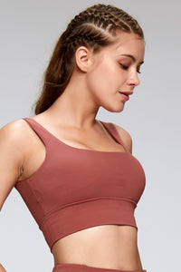 Spaghetti Strap Open Back Fashion Sports Bra