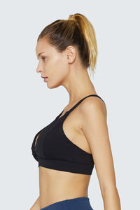 light & leaf Sexy Twist Spaghetti Straps Comfortable Bra Low Impact