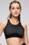 Circle Design Mesh Layered Criss Cross Back Sports Bra