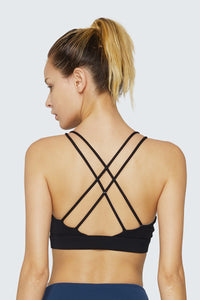 light & leaf Sexy Twist Spaghetti Straps Comfortable Bra Criss-cross Back