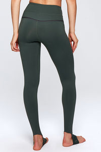 Basic Yoga Pants Over the Heel Green Back