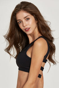 Mesh sexy casual sports bra